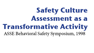 Safety culture assessment